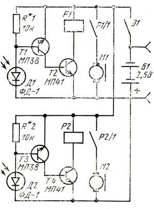Рис. 82. Схема движения на свет
