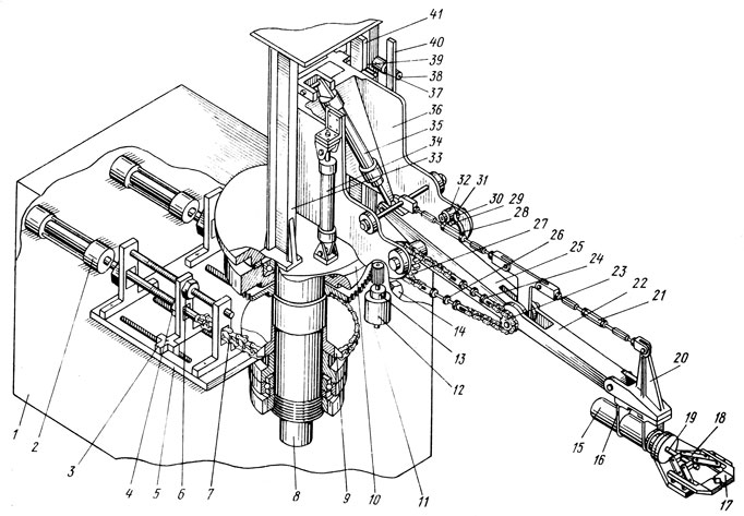 Кинематическая схема робота '